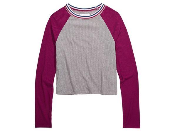 Epic Threads Big Girls Colorblocked Top Grey Size Medium