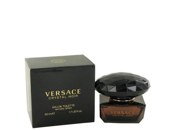 3 Pack Crystal Noir by Versace Eau De Toilette Spray 1.7 oz for Women