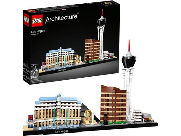 LEGO Architecture Skyline Collection Las Vegas Building Kit 21047 501  Pieces (New, Damaged Retail Box)