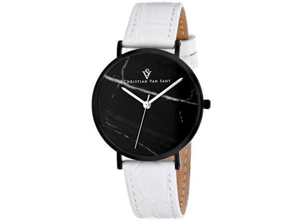Christian Van Sant Women's Lotus Black Dial Watch - CV0424WH - Product Image