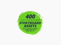 Clip Studio Paint Storyboard Assets Pack - Product Image
