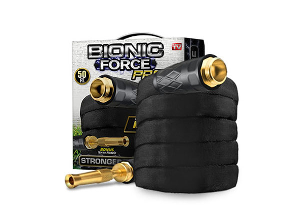 Bionic Force PRO 50' Garden Hose & Spraying Nozzle