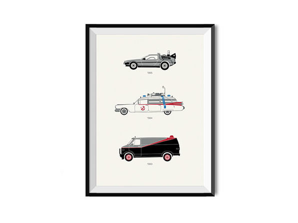 """A Radical Ride: 80's Movie Poster (18""""x 24"""")"""