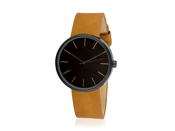Sleek Minimalist Watch (Brown/Black) - Product Image