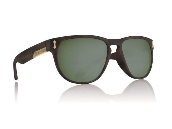 Dragon Marquis Polarized Sunglasss Matte Tortoise with Green - Product Image