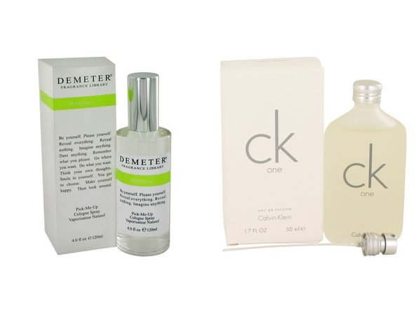 Gift set  Demeter by Demeter Bamboo Cologne Spray 4 oz And a bottle of CK ONE Eau De Toilette Pour/Spray (Unisex) 1.7 oz - Product Image