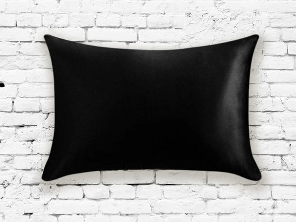 Silk Pillowcase in Black - Product Image
