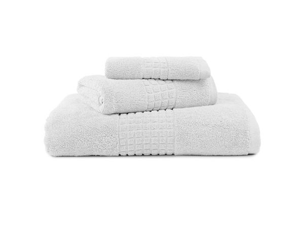 Valentino Luxe 3-Piece Egyptian Cotton Spa Towel Set (White)