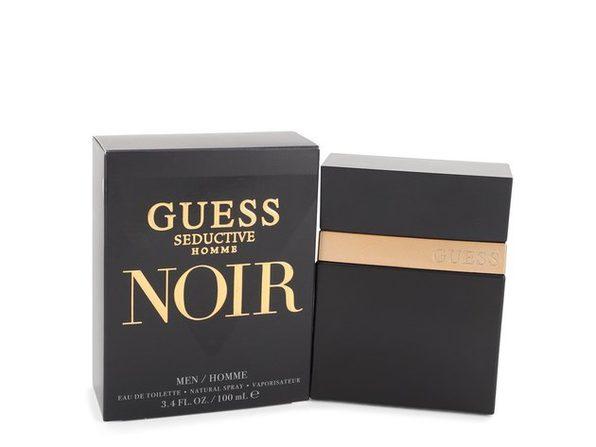 Guess Seductive Homme Noir by Guess Eau De Toilette Spray 3.4 oz - Product Image