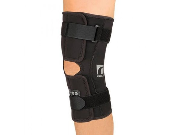 Ossur Rebound ROM Hinge Short Sleeve Knee Brace With Patella Support, X-Small, Black