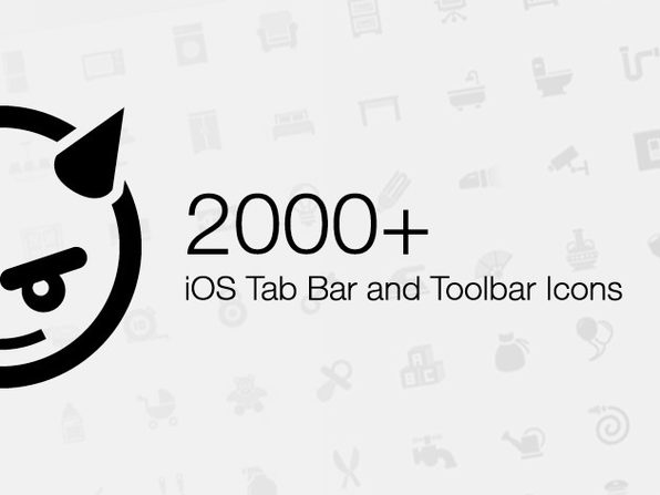 iOS Tab Bar and Toolbar Icons for iPhone and iPad - Product Image