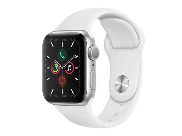 Apple Watch Series 5 GPS 44mm (Silver/White)