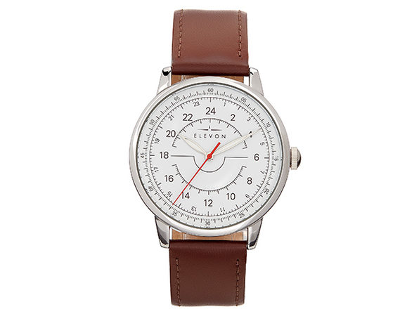 Elevon Gauge Leather Band Watch