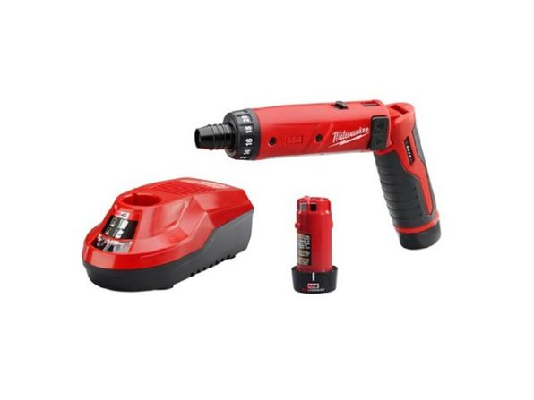 Milwaukee 2101-22 M4 1/4 Hex Screwdriver Kit W/2 Bat - Product Image