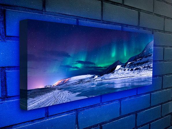 Moderndek Backlit Canvas (Aurora) | StackSocial