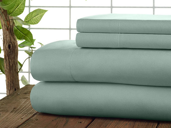 Kathy Ireland 4-Pc Coolmax Sheet Set - Full - Aqua - Product Image