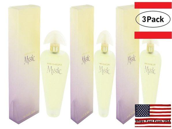 3 Pack Mystic by Marilyn Miglin Eau De Parfum Spray 3.4 oz for Women