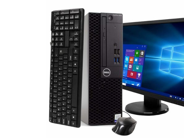 "Dell Optiplex 3050 Desktop PC, 3.2GHz Intel i5 Quad Core Gen 7, 16GB RAM, 2TB SATA HD, Windows 10 Professional 64 bit, 24"" Widescreen Screen (Renewed)"