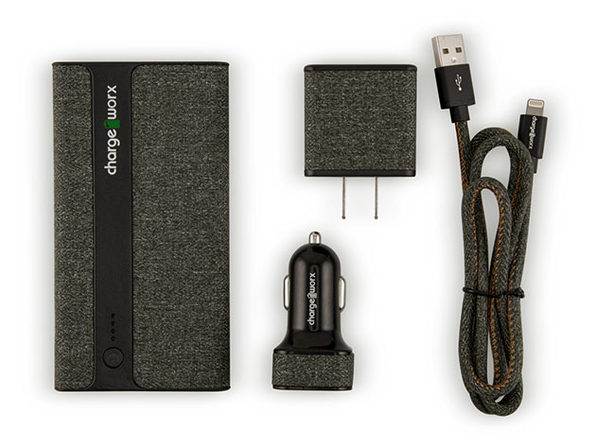 ChargeWorx Sleek Canvas Complete Charging Collection MFi Lightning Green - Product Image