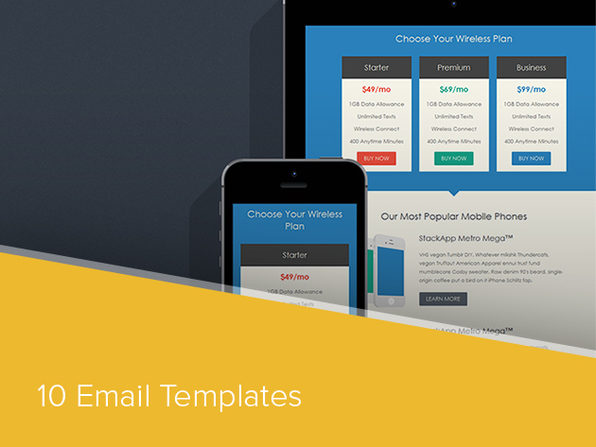 Email Templates Bundle - Product Image