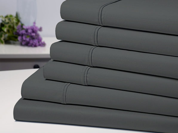 Bamboo Comfort 6 Piece Luxury Sheet Set - Grey (Queen) - Product Image
