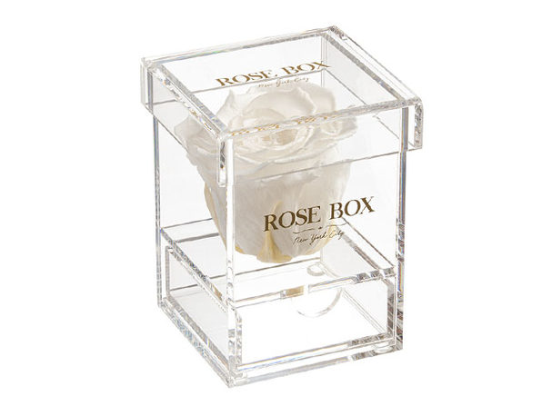 Rose Box™ Single Rose Jewelry Box (Pure White)