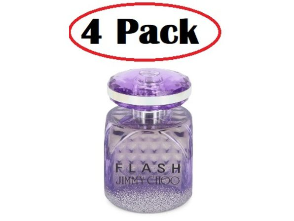 4 Pack of Jimmy Choo Flash London Club by Jimmy Choo Eau De Parfum Spray (unboxed) 3.3 oz - Product Image