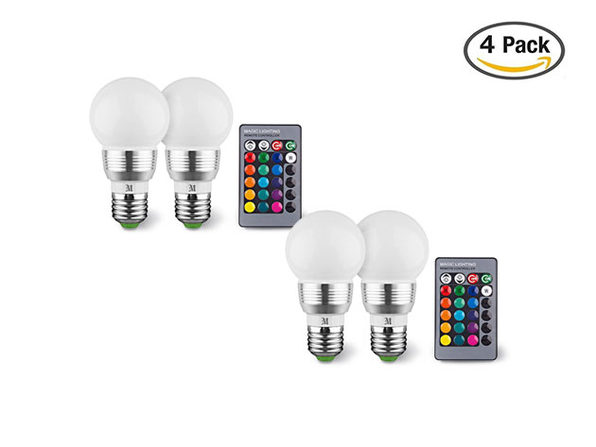 Massimo Color Changing Light Bulb: 4-Pack