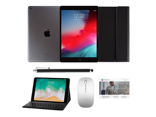 "iPad 10.2"" 8th Gen 32GB Space Grey Complete Gift Bundle Black Case/Stylus - Product Image"