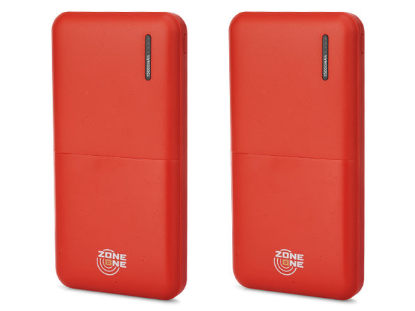 Zone One 15,000mAh Dual-USB Power Bank (Red/2-Pack)