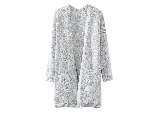 Gray Knit Cardigan (XXL)