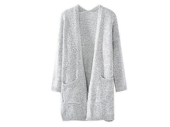 Gray Knit Cardigan (XXL)