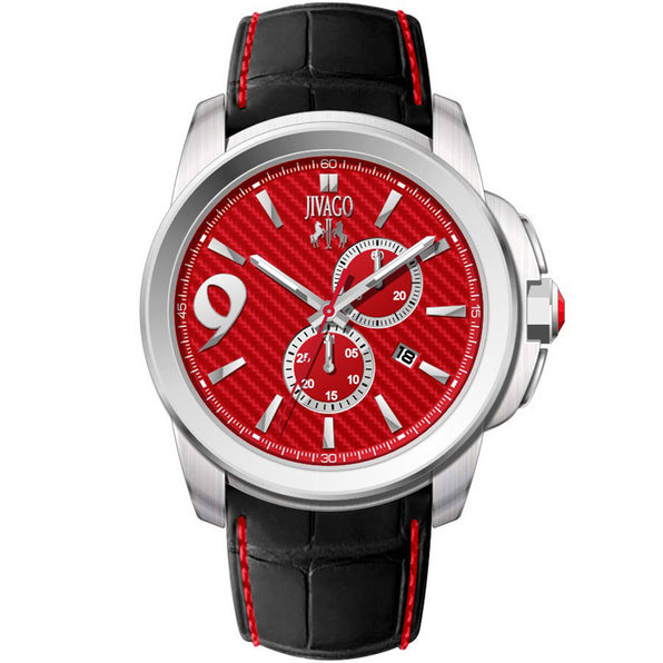 Jivago Men's Gliese Red Dial Watch - JV1519
