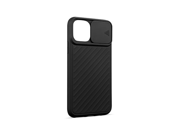 iPhone Case with Camera Cover (iPhone 12 mini/Black)
