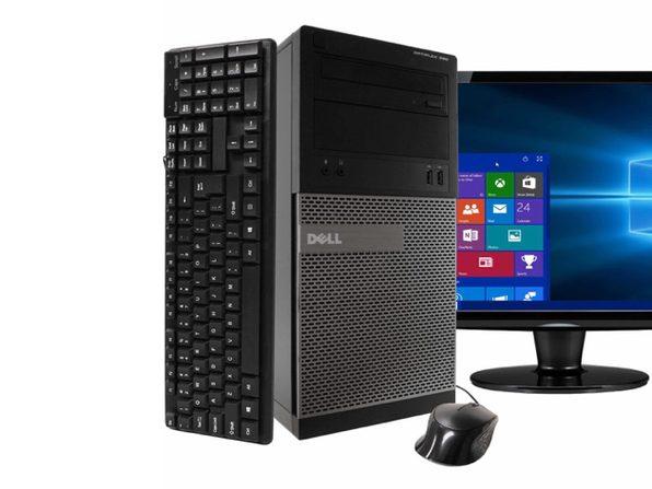 """Dell 390 Tower PC, 3.2GHz Intel i5 Quad Core Gen 2, 16GB RAM, 1TB SATA HD, Windows 10 Home 64 bit, 22"""" Screen (Renewed)"""