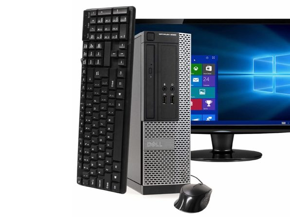 "Dell OptiPlex 3020 Small Form Factor PC, 3.2GHz Intel i5 Quad Core Gen 4, 8GB RAM, 2TB SATA HD, Windows 10 Professional 64 bit, 22"" Screen (Renewed)"