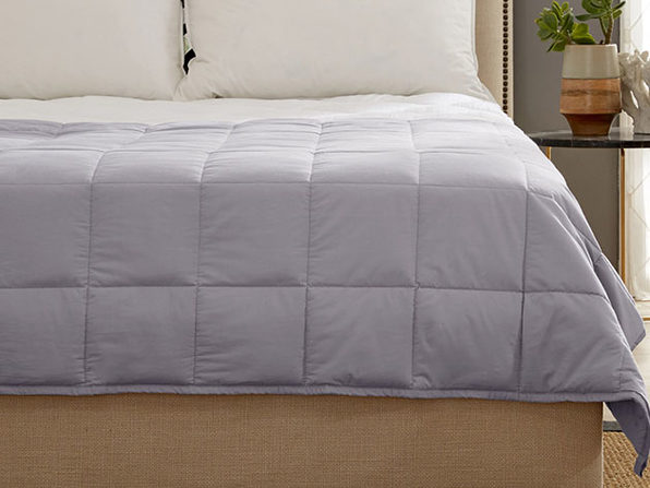 Kathy Ireland Weighted Blanket (Silver)