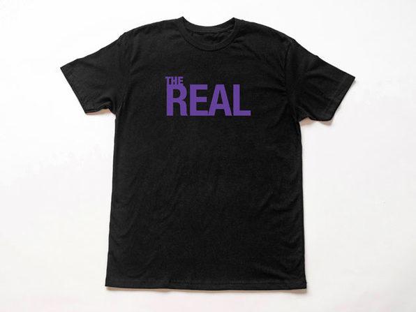 The Real Logo Black T-Shirt-XXL - Product Image