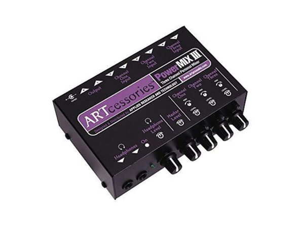 ART (PowerMIX III) - Three Channel Personal Stereo 12V DC Audio Mixer (Used, No Retail Box)
