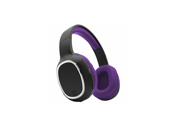 Zunammy Bluetooth Over-Ear Headphones with Comfort Pads (Purple)
