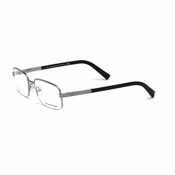 Zegna EZ5011-008 Optics Mens Eyeglasses Dark Ruthenium Frames - Dark Ruthenium