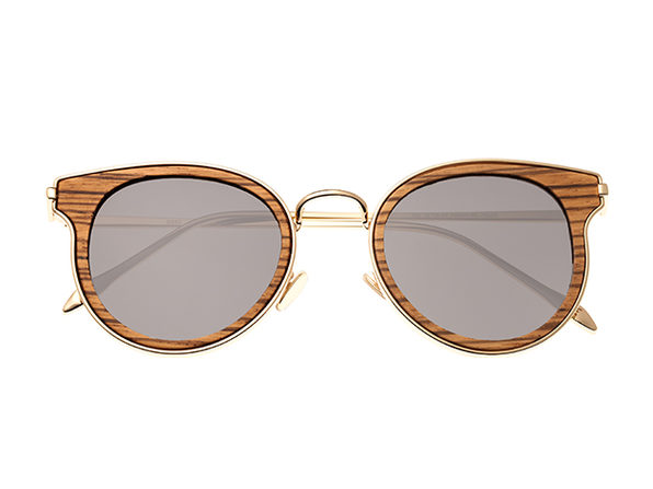 Earth Wood Derawan Sunglasses (Zebra Wood)