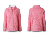 Half Zip Pullover-Pink Large - Product Image
