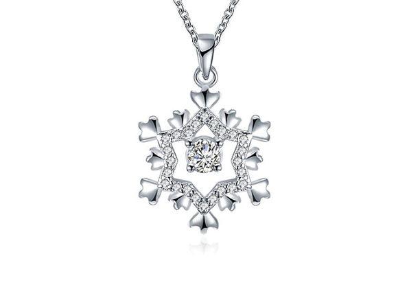 Center Snowflake Necklace Ft. Swarovski Elements