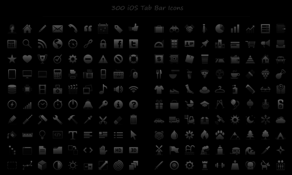 300 Smooth iOS Tab Bar Icons - Product Image