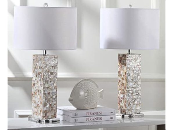 """Safavieh Lighting Collection Importes Jacoby Cotton Table Lamp, 28.9"""" - Cream (Like New, Damaged Retail Box)"""
