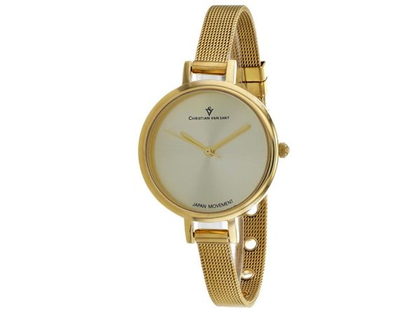 Christian Van Sant Women's Grace Gold Dial Watch - CV0285