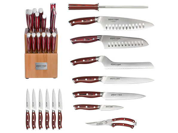 Crimson 15 Piece G10 Knife Block Set Stacksocial