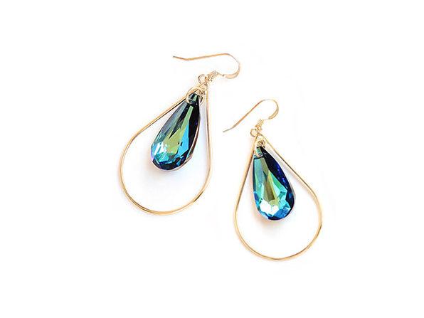 Sonia Hou SELFIE Earrings Ft. Swarovski Crystals (Mermaid Blue)