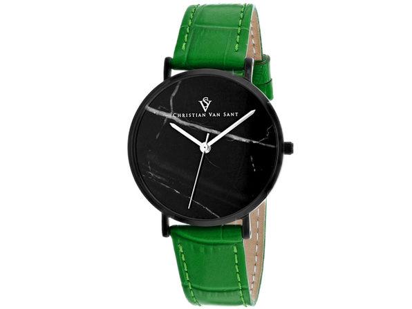 Christian Van Sant Women's Lotus Black Dial Watch - CV0424GR